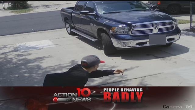 Man steals leaf blower from garage