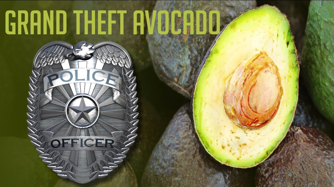 Southern California authorities say three produce company workers have been arrested in the theft of up to $300,000 worth of avocados. Photo: MGN