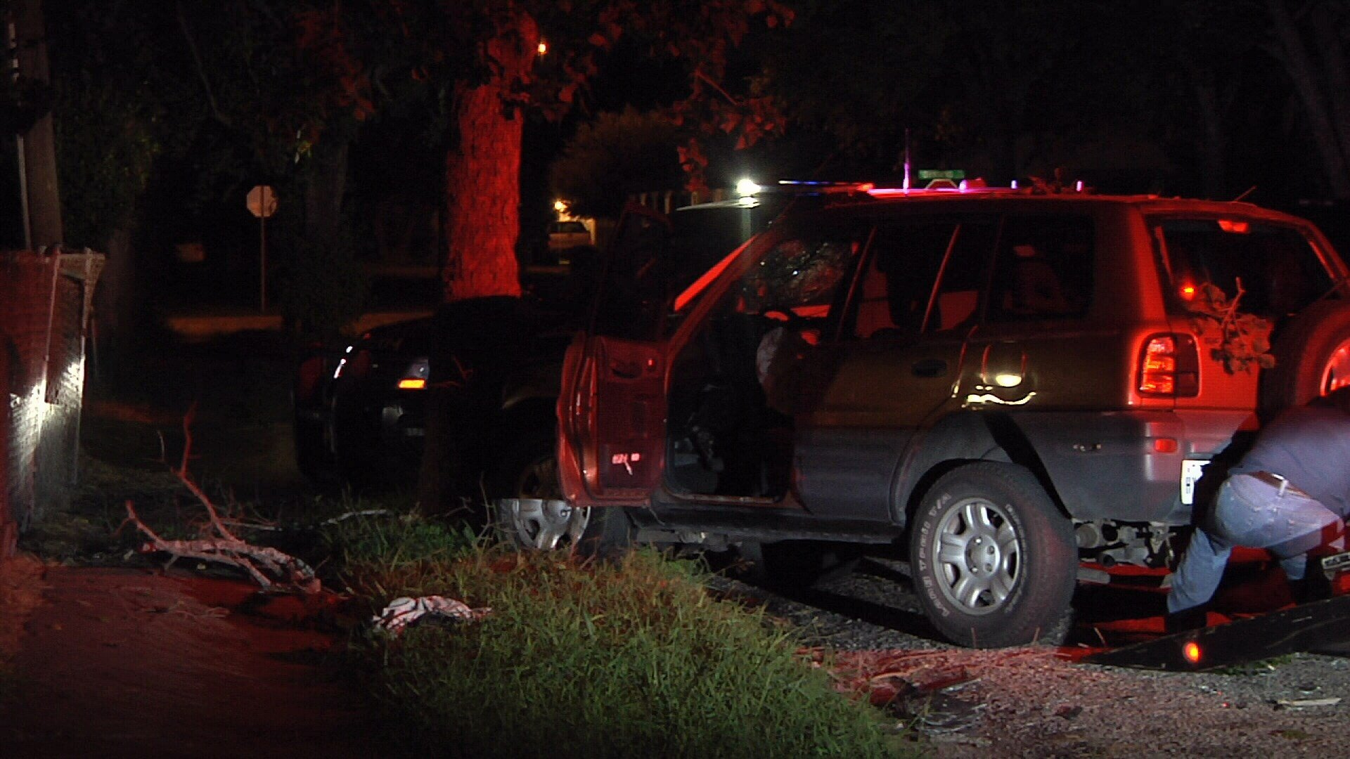 Two people are in jail for DWI after an early morning accident.