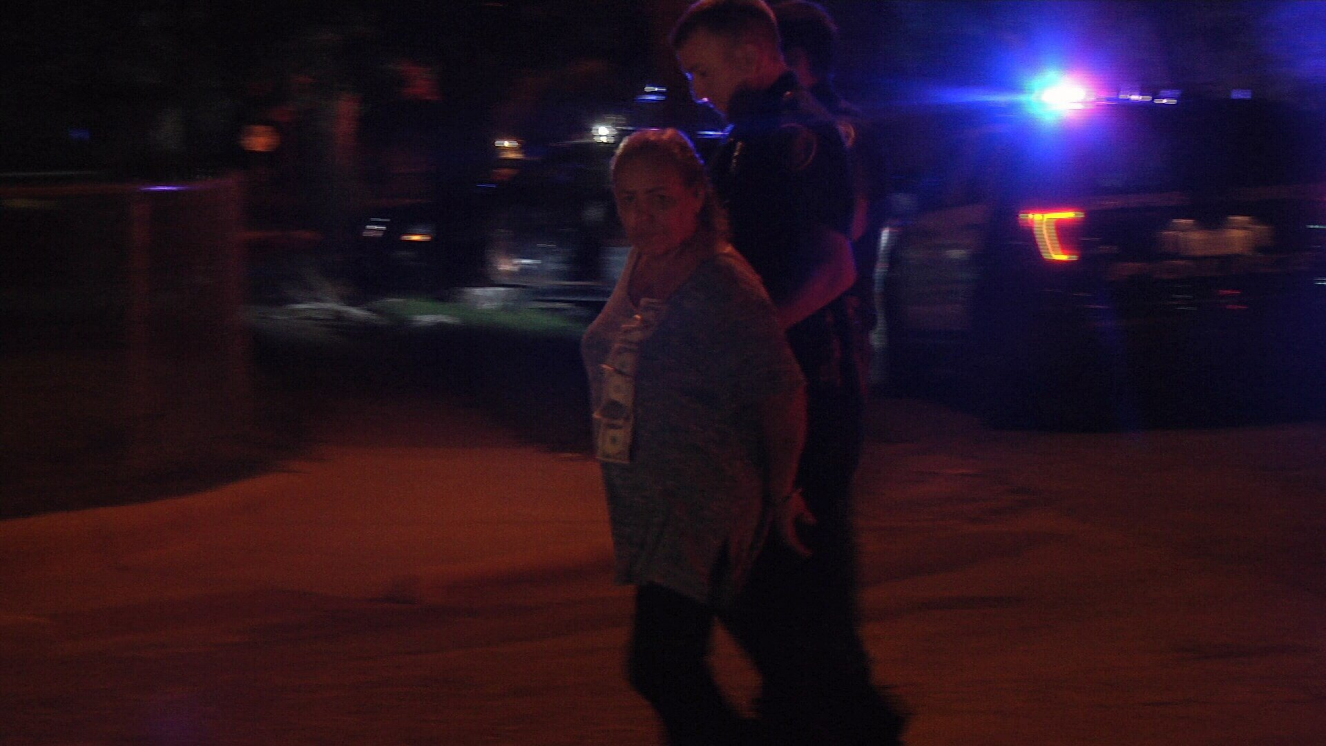 A woman drove herself to the scene of an accident that her son was involved in. She was arrested for DWI.