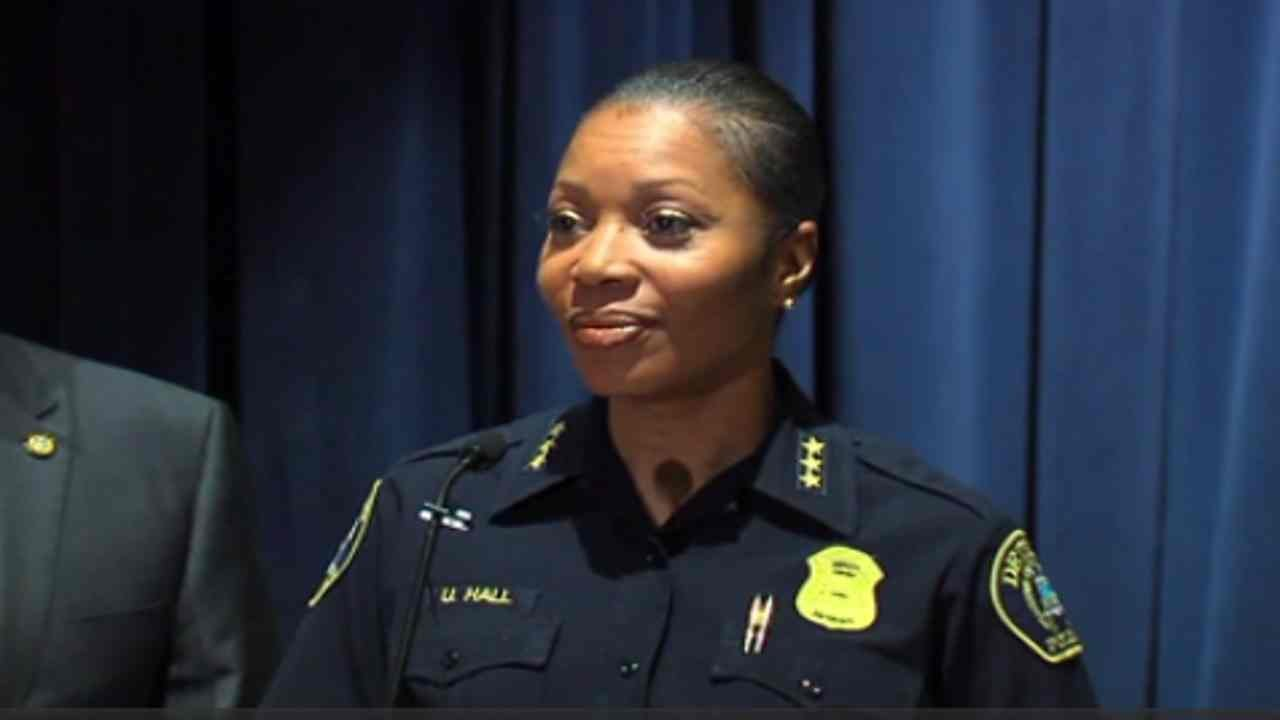 U. Renee Hall becomes first female police chief in history of the Dallas Police Department.