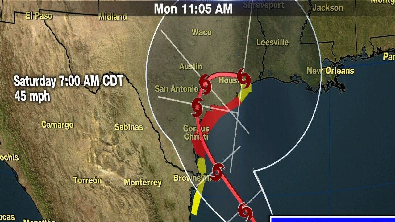 Harvey to dump heavy rains on Texas; hurricane possible