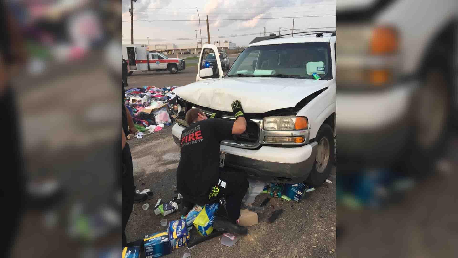 Investigators go over truck that ran over storm victims