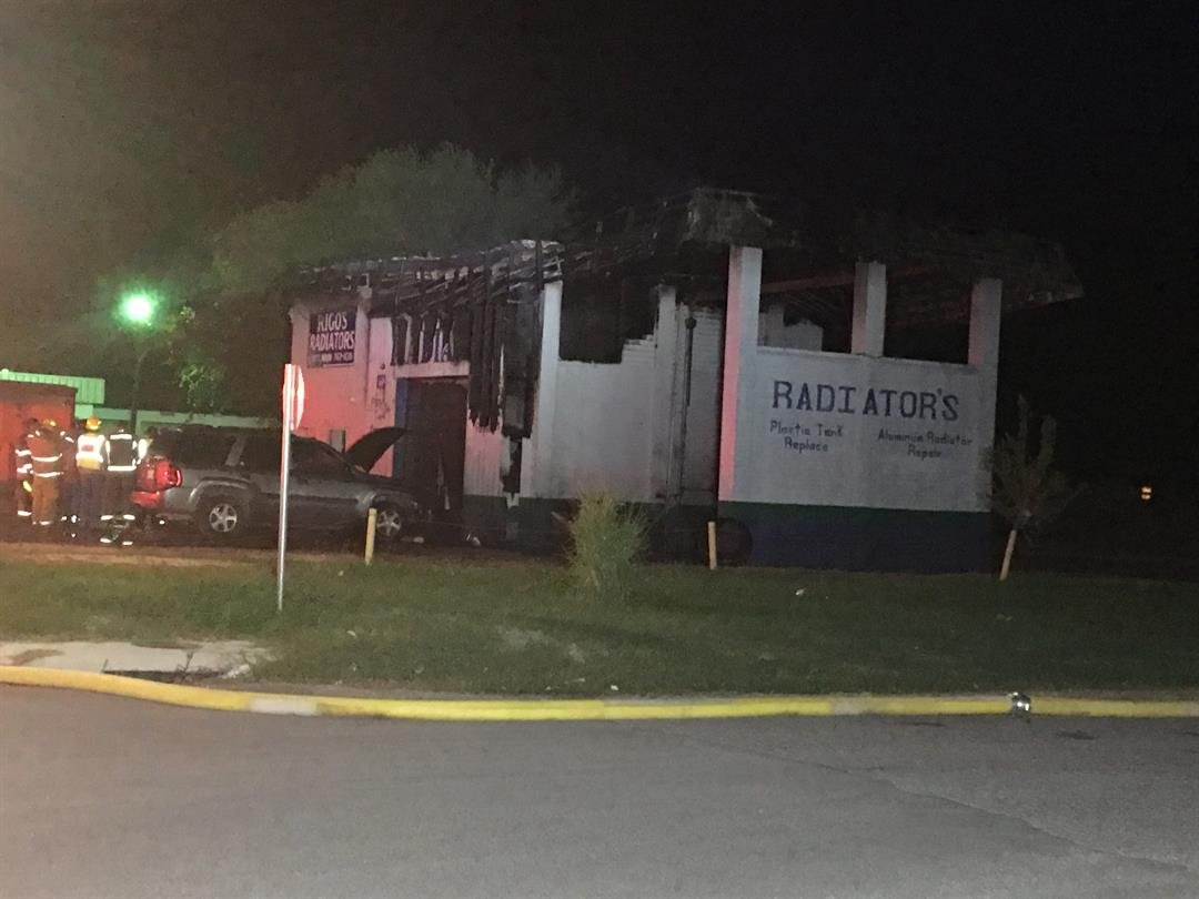 A fire destroyed Rigo's Radiators in Robstown.