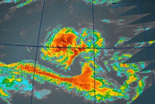 Record-tying hurricane Ophelia in the Atlantic