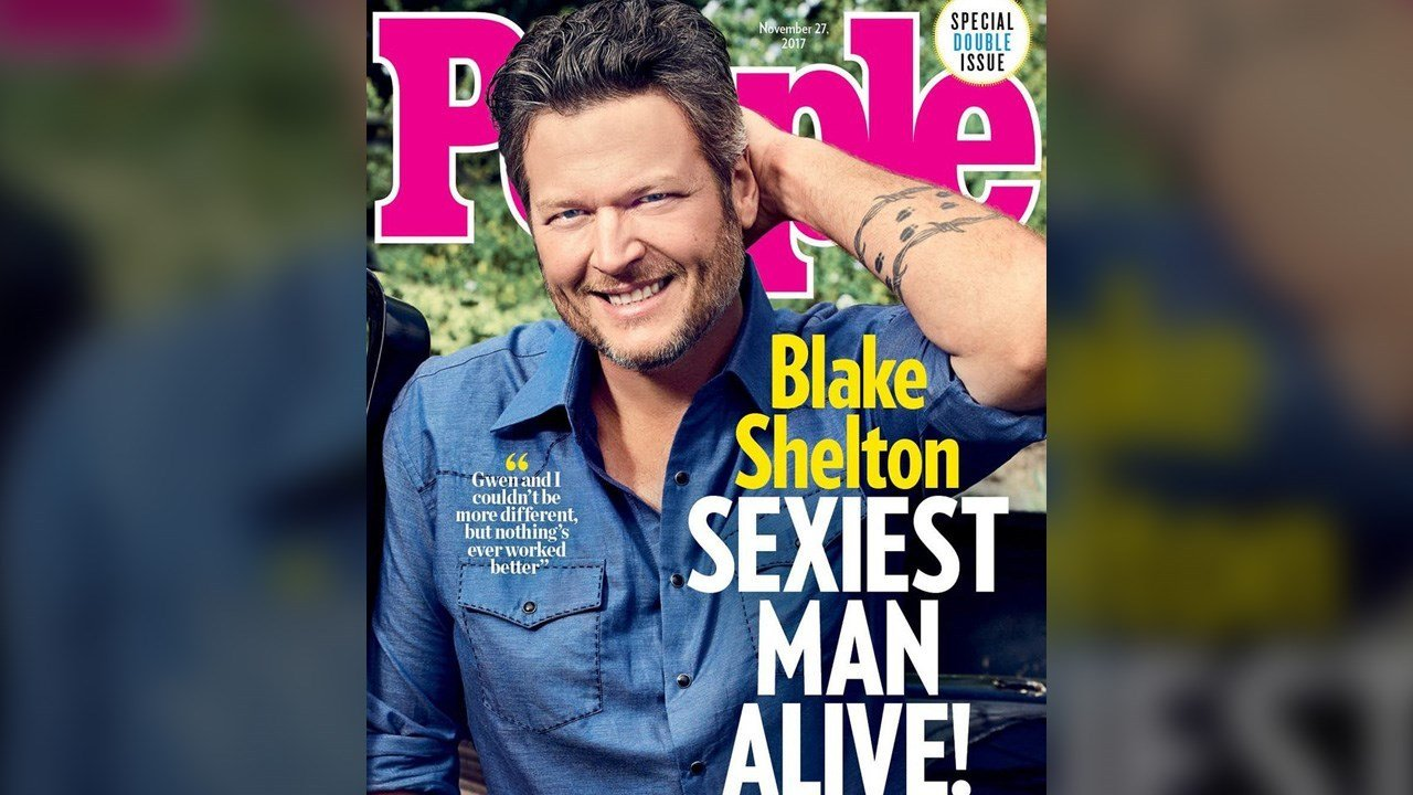 People Magazine names country singer Blake Shelton 'Sexiest Man Alive'