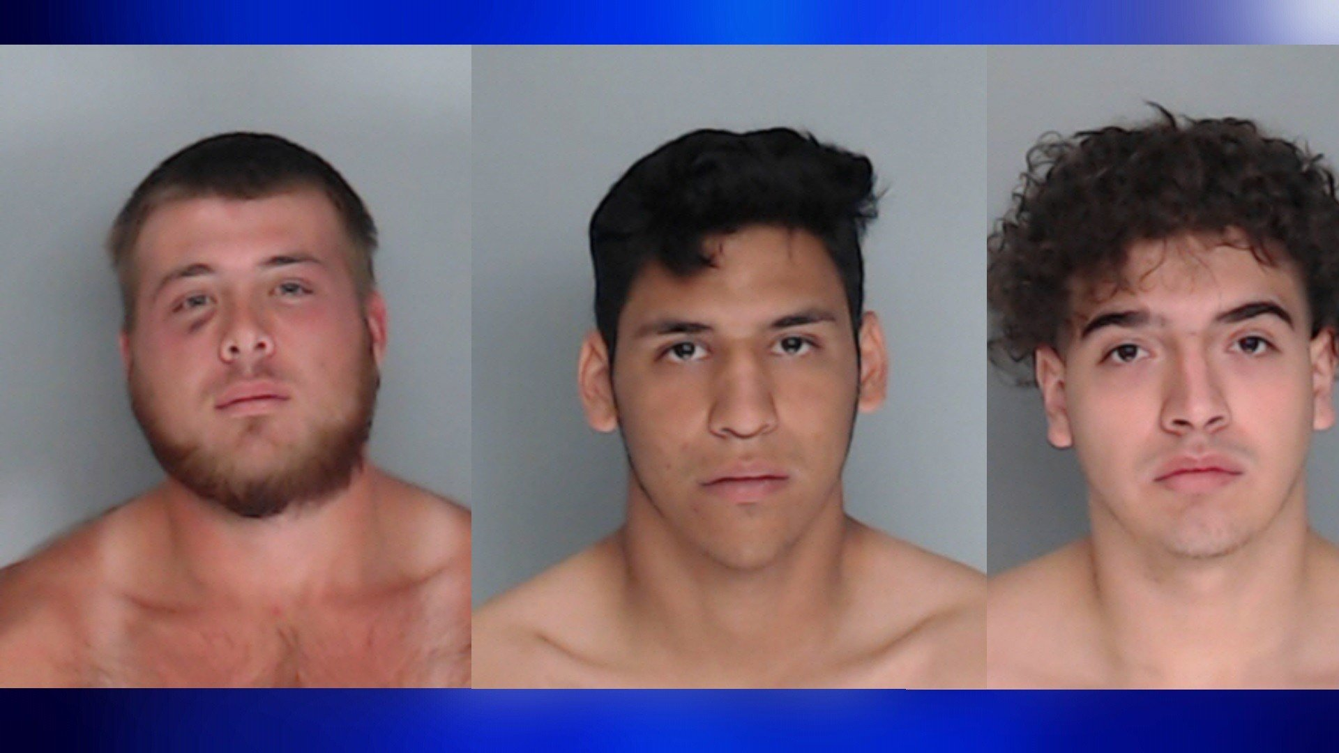 Left to right: Tyler Farmer, James Lockhart and Gavin Escoto. All charged with murder.