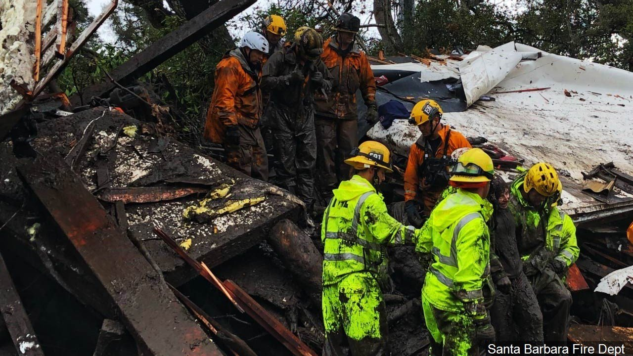 Dozens missing after California mudslide