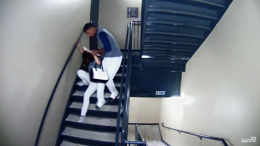 Baseball player brutally attacks girlfriend in horrifying CCTV footage