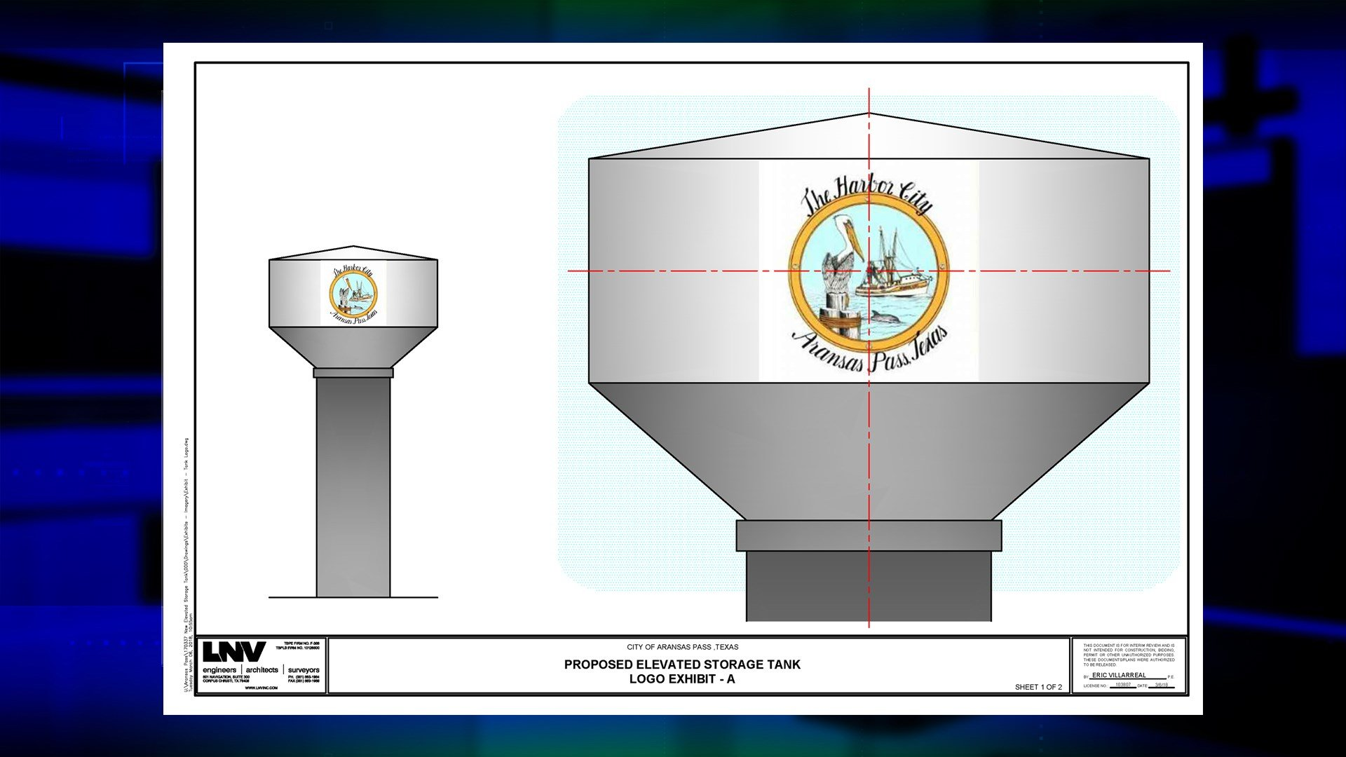 One of four choices for new logo on new Aransas Pass water tower