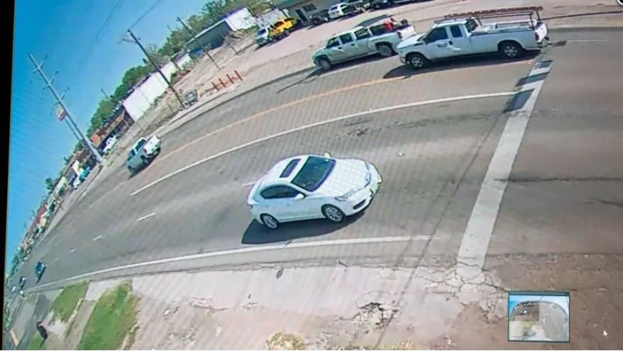 Police say a man in this white car tried to lure a young girl into his car.