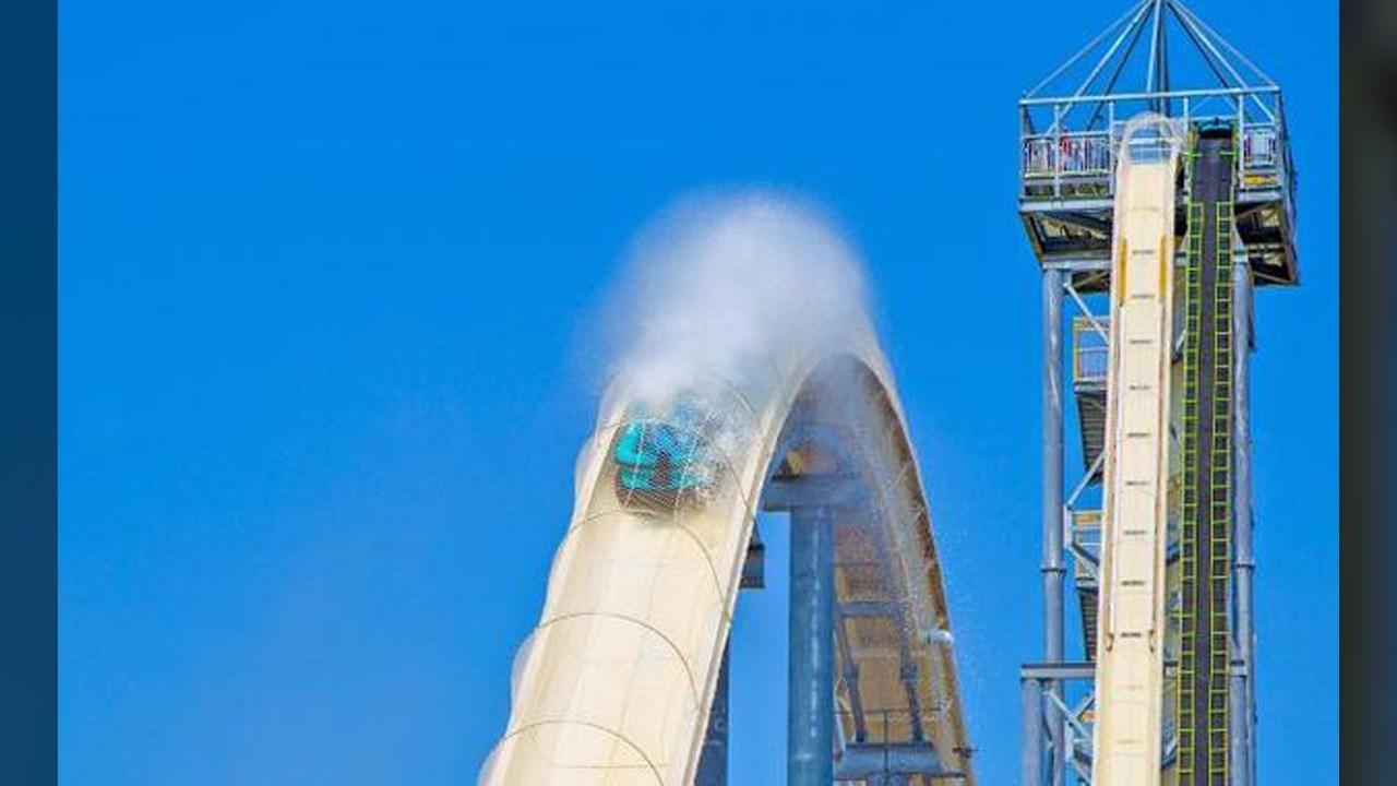 """World's tallest water slide """"The Verrückt"""" at Schlitterbahn Water Park in Kansas City, Kansas"""