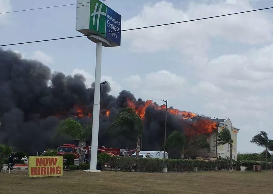 Photo: Holiday Inn Express hotel fire (Courtesy: Vanessa Guerra)