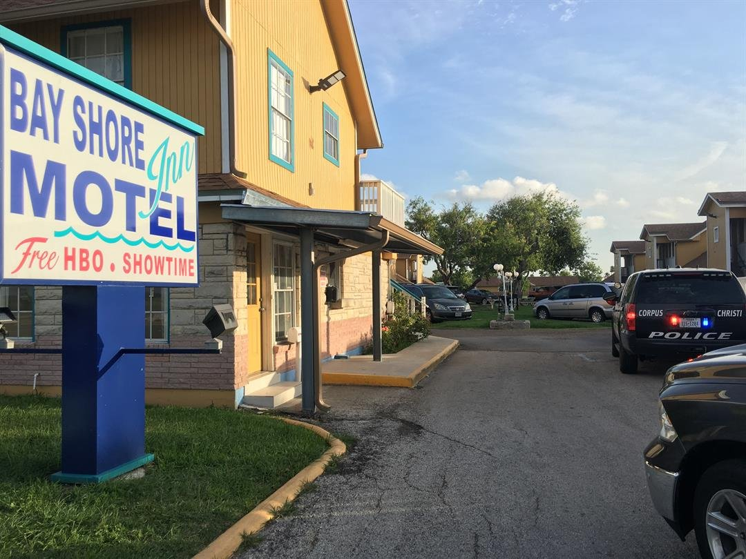 A man's body was found at the bottom of the Bay Shore Motel swimming pool.