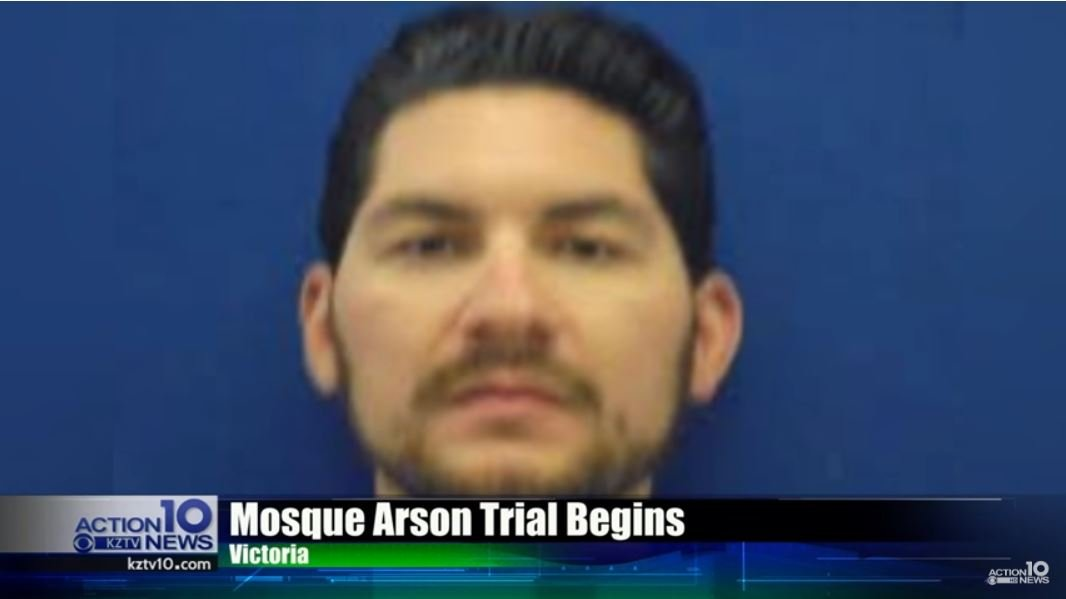 Marq Vincent Perez is on trial for setting a mosque on fire