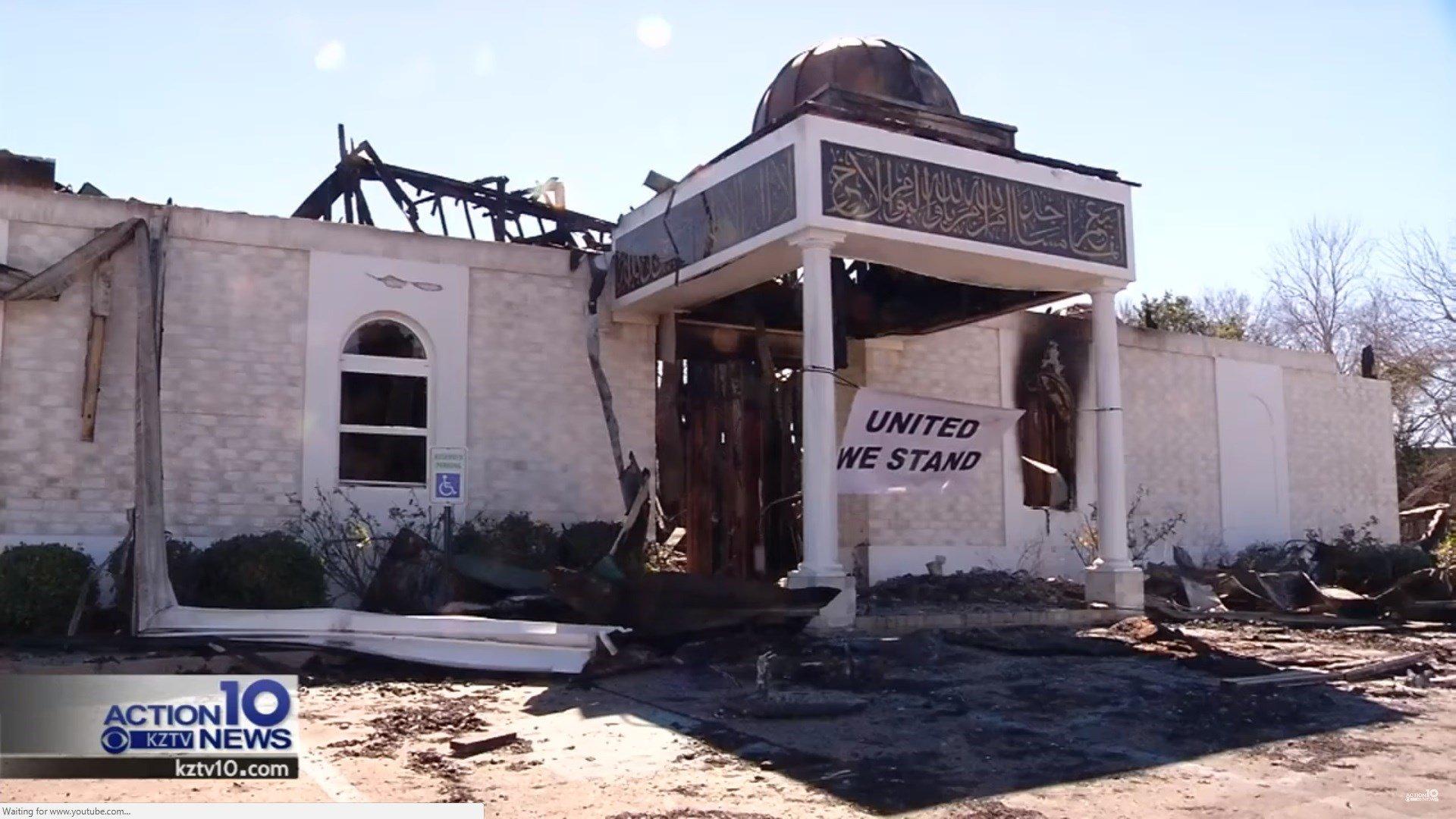 Victoria Islamic Center was set on fire on Jan. 28, 2017
