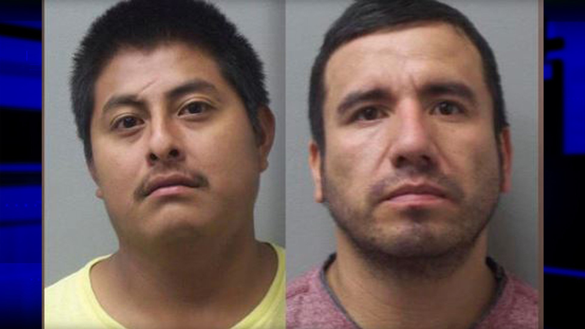 Yoni Aguilar (left) and Israel Palomino (right) booking photo:  Madison County Sheriff's Office