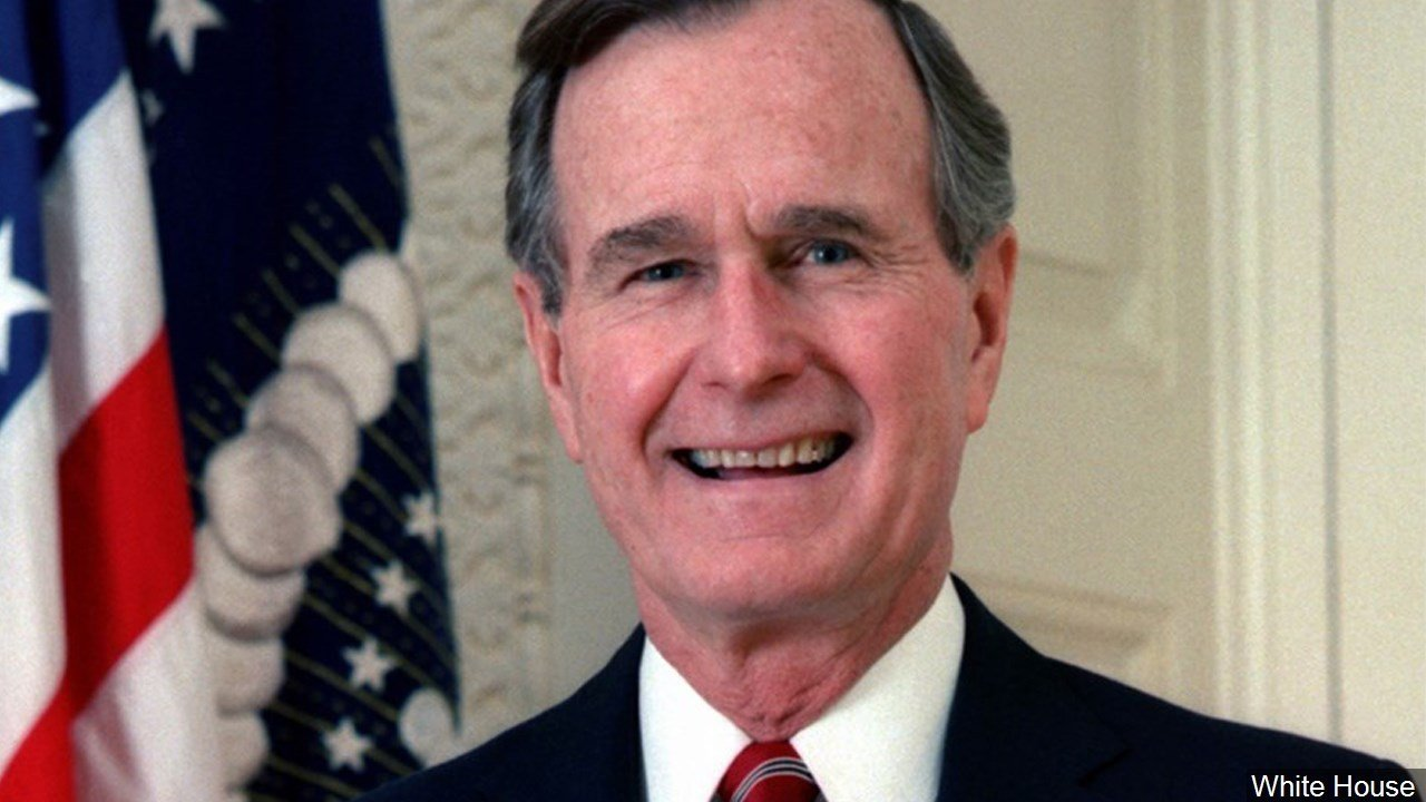 Former President George H W Bush Celebrating 93rd