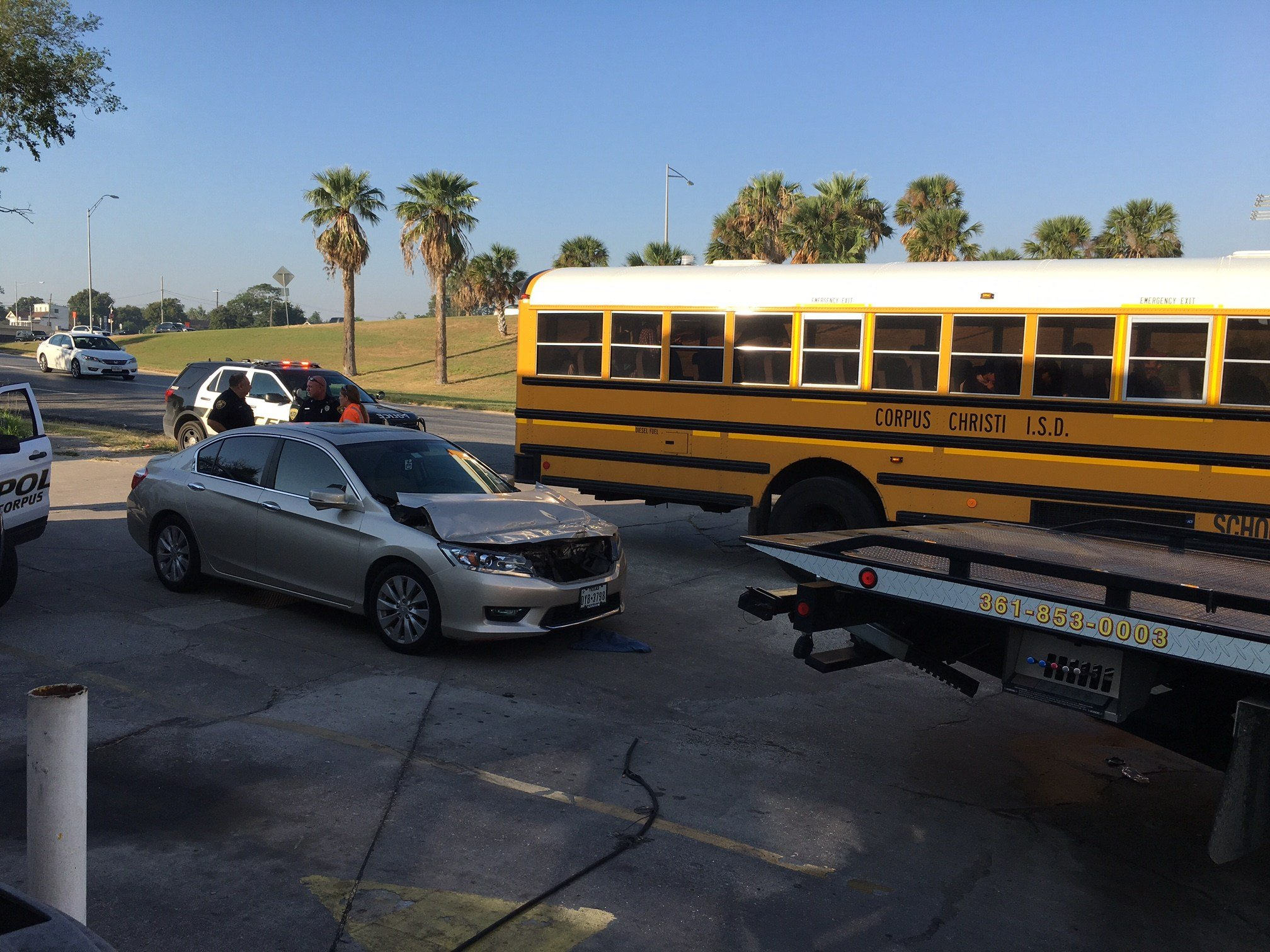 Driver cited in crash with school bus - KZTV10.com | Continuous News  Coverage | Corpus Christi