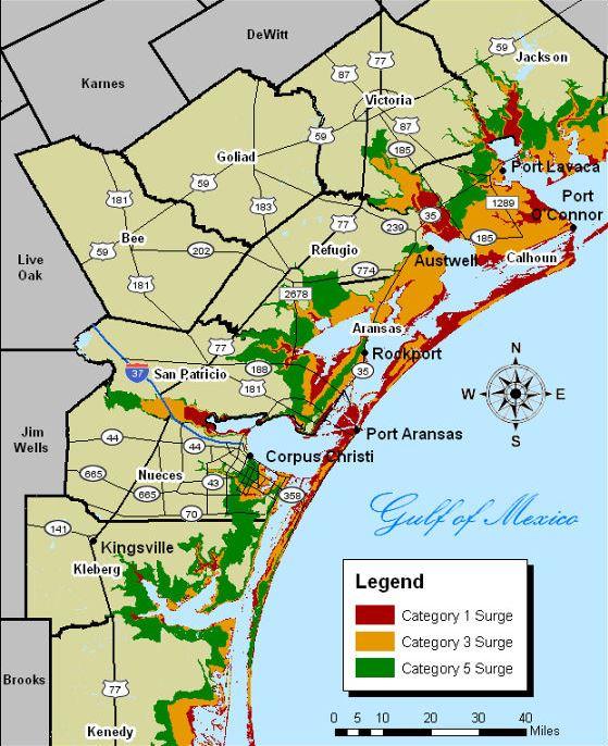 storm surge maps kztv10 continuous news coverage corpus