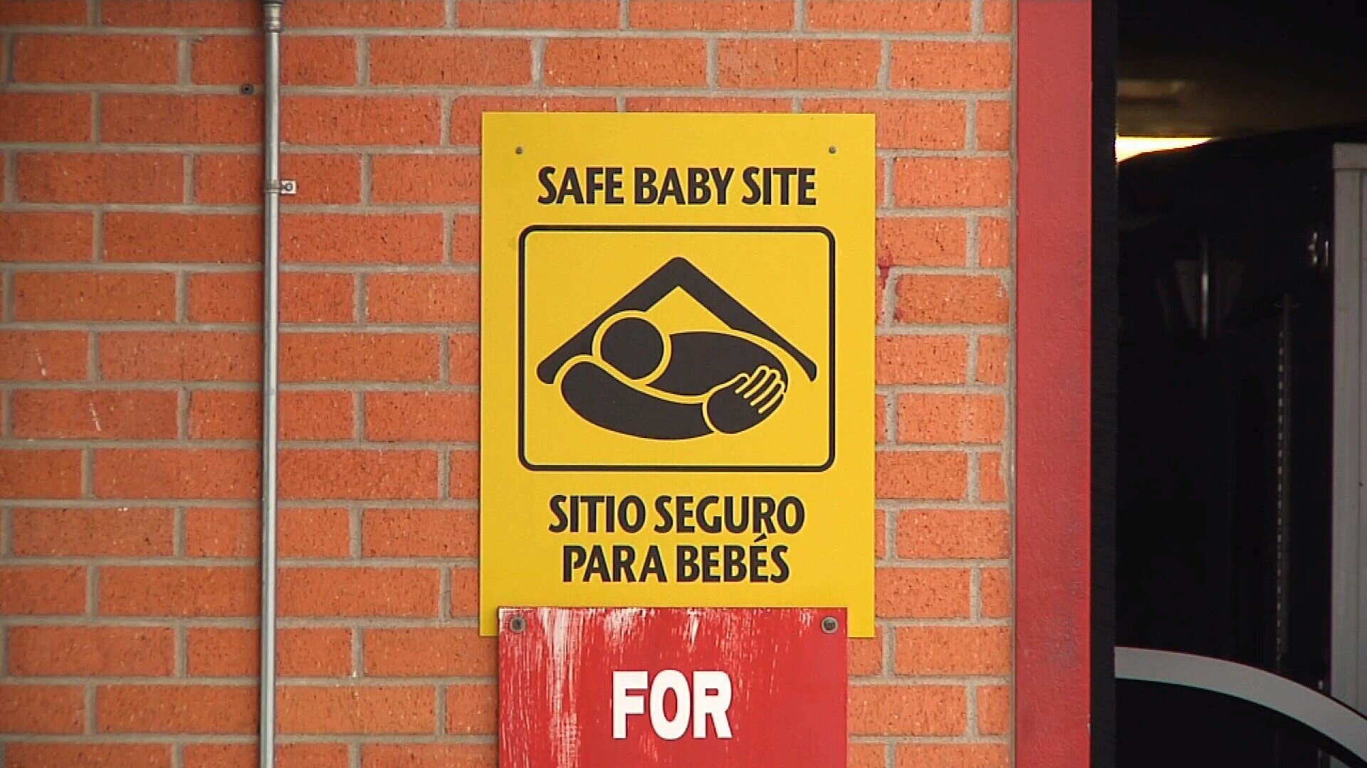 Officials say an infant was left on a hospital bench this morning under the Safe Haven Law.